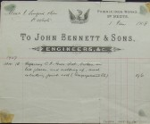 Congregational Church, St Neots - Invoice from John Bennett & Sons Engineers etc of Phoenix Iron Works, St Neots for gate post repairs, dated January 1908