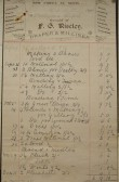 Wesleyan Chapel, St Neots - Invoice from F.G. Riseley, draper & milliner of New Street, St Neots for blinds and materials, dated Aug - Dec 1901