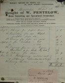 Chapel, St Neots - Invoice from W. Pentelow, House Furnisher & Ironmonger of Market Square, St Neots for work on the gas supply, dated 1902