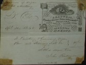 Old Meeting House, St Neots - Invoice from J. Radwell, plumber, glazier and painter of Eynesbury for work, dated April 1848