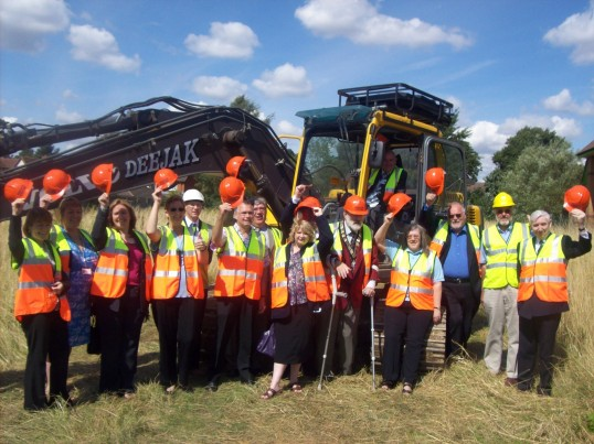 Turf Cutting Ceremony at the site of the Eatons Community Centre, The Maltings, Eaton Ford in August 2008