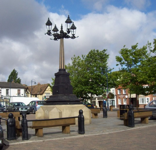 Days Column in St Neots Market Square in August 2008