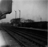 Looking north from St Neots Railway Station in 1952