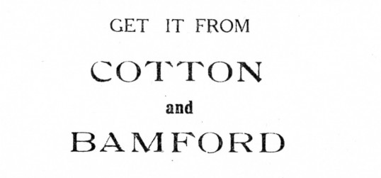 Advert for Cotton and Bamford in Eaton Socon - from The Gazette church magazine, June 1955