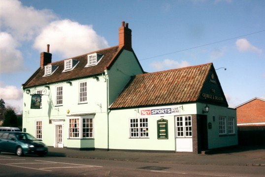 George and Dragon on The Great North Rd, Eaton Socon in 2006