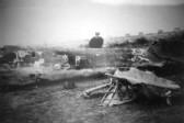 Wreckage of a German plane near The Bell Public House in Little End, Eaton Socon in 1940