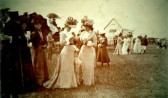 Spectators arriving for a day watching Polo at Little End, Eaton Socon around 1902