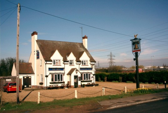 Bell Public House on the Great North Rd in Little End, Eaton Socon in 2004
