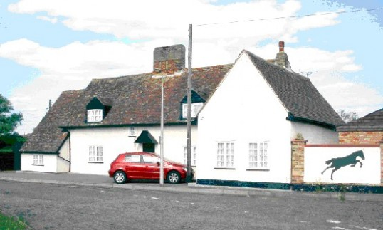 Former Old Cannon Public house on the Great North Rd in Wyboston in April 2007