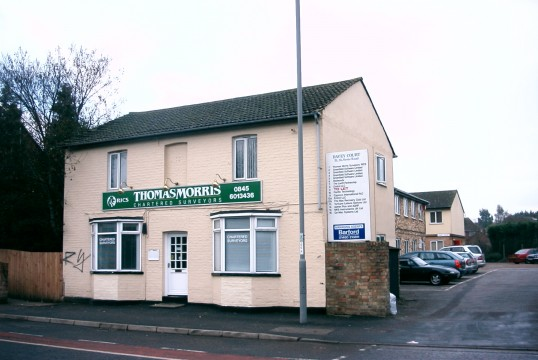 Thomas Morris Surveyors, in 2005, once The Red Lion beerhouse in St Neots Rd, Eaton Ford