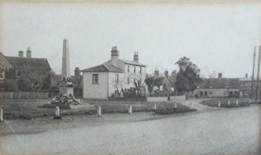 View of Eaton Socon Village Green showing Falcon Corner, around 1930