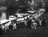 Blessing of the boats at Regatta Meadow, St Neots, in 1954