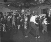 A Christmas Party at St Neots Roller Skating Rink in the mid 1950s