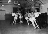 A dancing display at the St Neots Roller Skating Rink in the mid 1950s