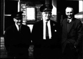 Station and signal box staff at St Neots Railway Station, probably 1960s