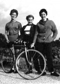 Members of St Neots Cycling Club which often held races on the Great North Rd, in the 1950s and 1960s