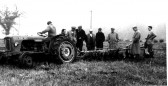 Ploughing demostration with a David Brown tractor, about 1960