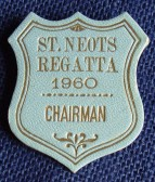 St Neots Regatta Chairman's Badge for 1960 in St Neots Museum