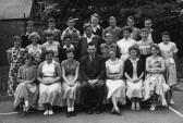 A group of senior (standard VII) pupils at St Neots County School in 1956