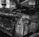 Demolition of St Neots Town Bridge in 1964.