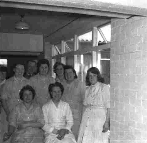 Canteen staff at Grace Bros Factory in the mid 1960s, Cromwell Rd, St Neots.