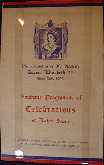 Programme for the St Neots Coronation Celebrations in June 1953