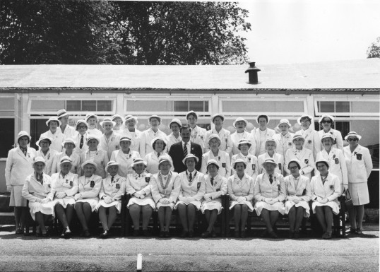 St Neots Ladies Bowls Club, about 1970
