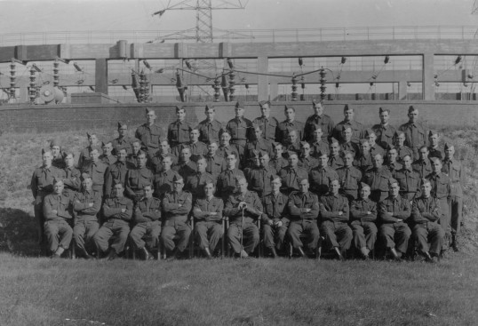 BCH Platoon, St Neots Home Guard outside the Little Barford Power Station in 1943