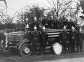 St Neots Fire Engine and crew in the 1930s