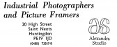 Advert for Alexandra Studio Photographers in St Neots High Street - in 'News of the Churches' magazine Feb 1975