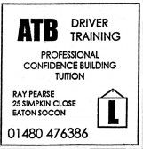 Advert for ATB Driver Training - in 'Eatons Community Association Newsletter (ESCAN) Nov 1994