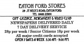 Advert for Eaton Ford Stores - in 'Eatons Community Association Newsletter (ESCAN) Nov 1994