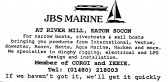 Advert for JBS Marine at Eaton Socon Rivermill - in 'Eatons Community Association Newsletter (ESCAN) Nov 1994