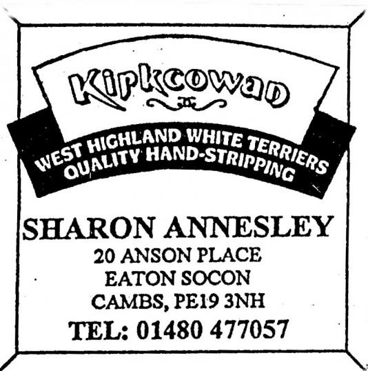 Advert for Sharon Annesley Terrier Hand Stripping - in 'Eatons Community Association Newsletter (ESCAN) Nov 1994