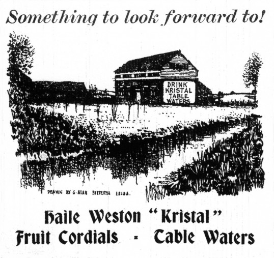 Haile Weston Springs advert, dated April 1944