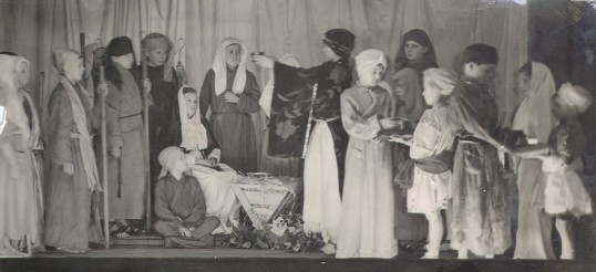 Children's Nativity in Eynesbury Church Hall in the 1950s