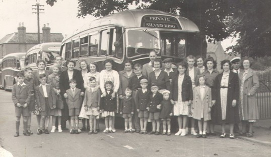 Eynesbury school or church outing in the 1950s