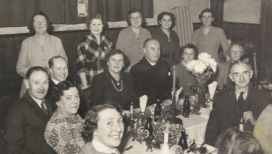 Church Christmas Meal in Eynesbury, about 1960