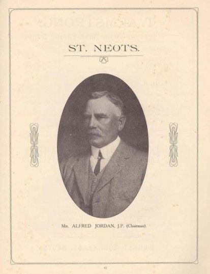 1911 Coronation Souvenir Programme - photo of Alfred Jordan, chairman
