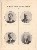1911 Coronation Souvenir programme - photos of councillors Pearson, Tebbutt, Fisher and Ibbett