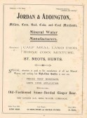 1911 Coronation Souvenir programme - advert for Jordan and Addington in St Neots