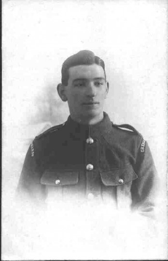 Private Harry Sharman of Eynesbury, taken about 1917, died 1918 in WW1