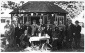 Opening of the old people's shelter on Eynesbury Green, in the 1940s