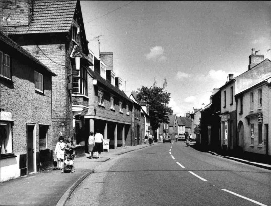 Eynesbury - new shops on the left built in St Marys Street, in the late 1960s