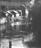 Hen Brook and industrial buildings in St Neots in 1950