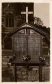 Eaton Socon War Shrine - a large oak board to commemorate those who died in WW1