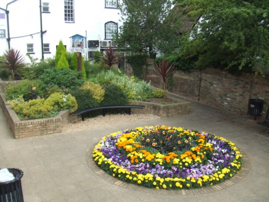 Jubilee Garden, by the town bridge, just off the market square, for 2010 St Neots In Bloom