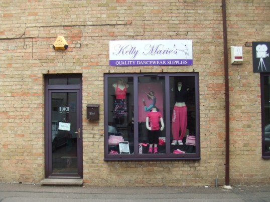 Kelly Marie's – a dance wear shop in Fishers Yard, St Neots Market Square, in July 2010