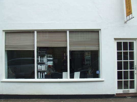 Filippo Russo – a hairdressing salon in Fishers Yard, St Neots Market Square, in July 2010