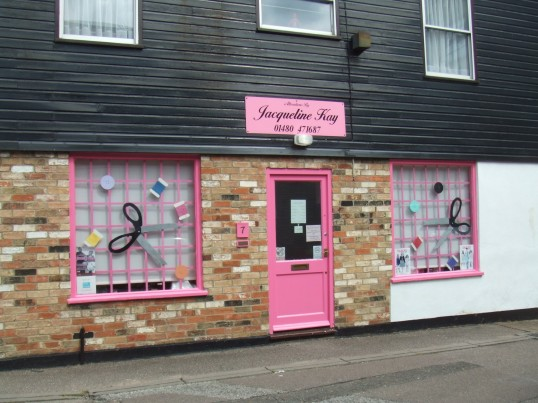 Jacqueline Kay – a clothing alterations shop in Fishers Yard, St Neots Market Square in July 2010